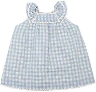 Gingham Taffeta Dress