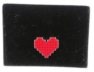 Les Petits Joueurs Velvet Heart-Accented Wallet