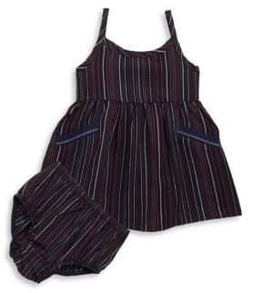 Splendid Baby Girl's Two-Piece Stripe Dress& Bottoms Set