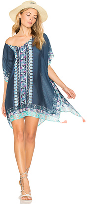 Seafolly Border Print Kaftan in Blue. $152 thestylecure.com