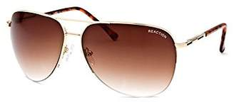 Kenneth Cole Reaction Half Rimless Aviator Sunglasses, /Brown Gradient (, Brown)