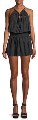 Ramy Brook Veronica Keyhole Halter Mini Dress