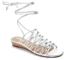 Tahari Caper Leather Demi-Wedge Sandals