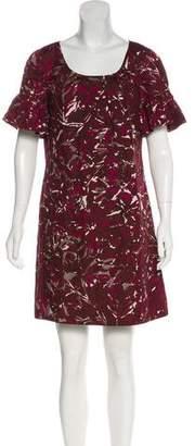Trina Turk Silk Short Sleeve Mini Dress