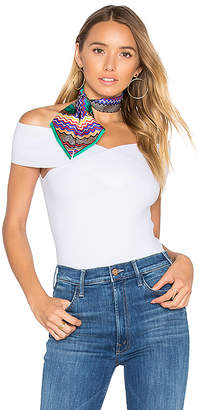 Autumn Cashmere Criss Cross Off Shoulder Top in White $176 thestylecure.com