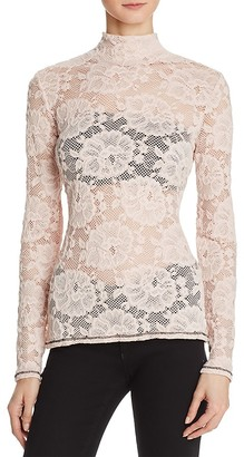 GUESS Remi Long Sleeve Lace Top $59 thestylecure.com