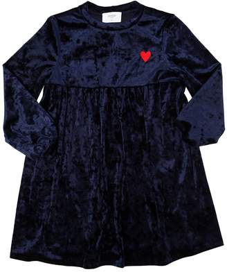 Matilda Heart Embroidered Velvet Dress