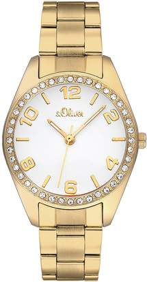 S'Oliver Women's Quartz Watch SO-2280-MQ with Metal Strap