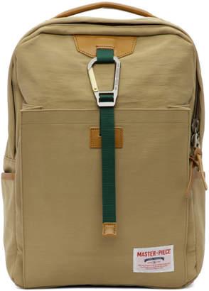 Master-piece Co Master Piece Co Beige Link Backpack