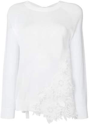 Semi-Couture Semicouture floral lace detail umper