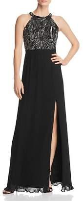 Aidan Mattox Embellished Bodice Gown
