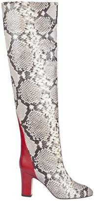 Couture Gia Snakeskin Pattern High Boots