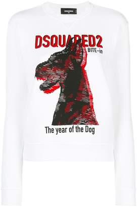 DSQUARED2 dog print T-shirt