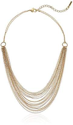Kenneth Cole New York Women's Short Multi Row Chain Strand Necklace