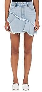 GRLFRND Women's Giselle Ruffle Denim Miniskirt - Lt. Blue
