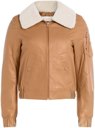 See by Chloe Leather Bomber Jacket