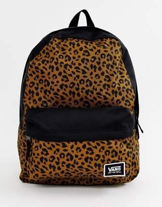 Vans leopard print realm classic backpack