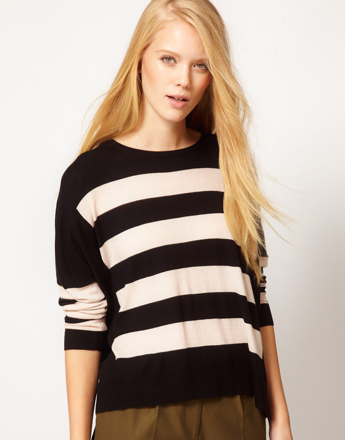 Whistles Betsey Stripe Sweater