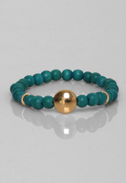 Orka Mesica Friendship Bracelet in Turquoise