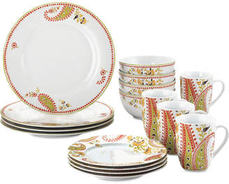 Rachael Ray Paisley 16-Pc. Dinnerware Set, Service for 4