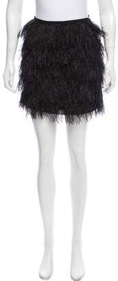 MICHAEL Michael Kors Ostrich Feathers Mini Skirt
