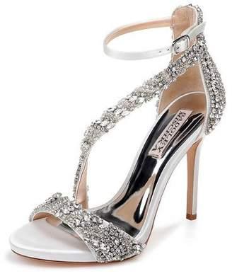 Badgley Mischka Venice Embellished Ankle-Wrap Sandals