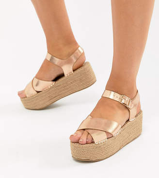 Truffle Collection Wide Fit Flatform Sandals