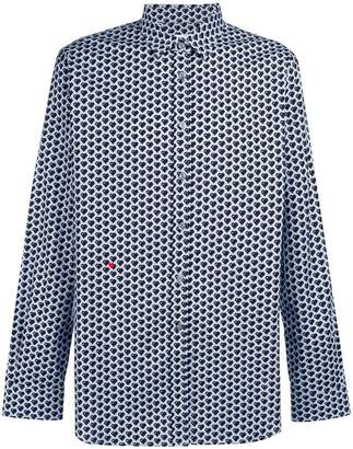 Moschino heart patterned shirt