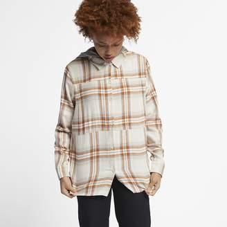Hurley Women's Long-Sleeve Flannel Top Hooded Wilson