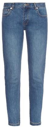 A.P.C. Etroit Court low-rise skinny jeans $177 thestylecure.com