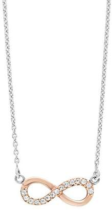 Amor Women's Necklace with Infinity Pendant 925 Silver partly Gold-Plated Zirconia White 45 cm – 2016035