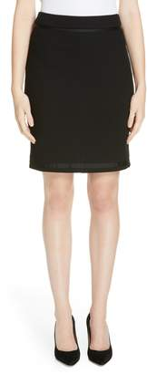 BOSS Memio Textured Jersey Suit Skirt
