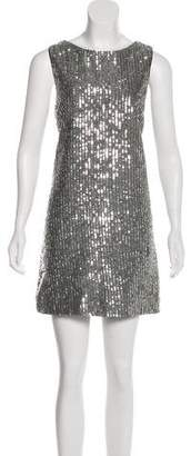 Alice + Olivia Sequin Sleeveless Dress