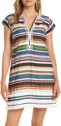 BLEU by Rod Beattie Under Cover Stripe Cover-Up Dress