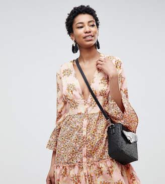 Vero Moda Tall Floral Ruffle Mini Dress