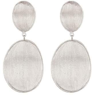 Rivka Friedman Satin Wavy Oval Drop Earrings