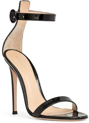 Gianvito Rossi Portofino 115 black patent leather sandals