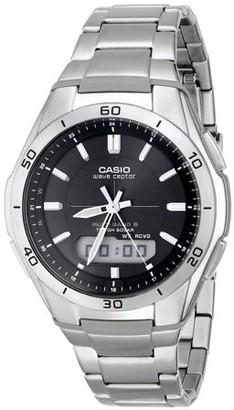 Casio Men's Waveceptor Solar Atomic Ana-Digi Watch, Silver