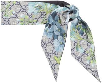Gucci GG Blooms silk scarf