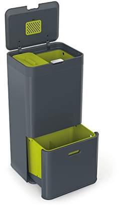 Joseph Joseph 30002 Intelligent Waste Totem Kitchen Trash Can and Recycle Bin Unit with Compost Bin