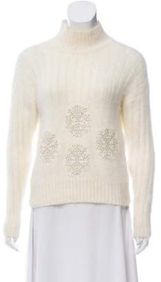 Blumarine Angora-Blend Embellished Sweater