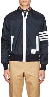 Thom Browne Men's Block-Striped Ripstop Bomber Jacket