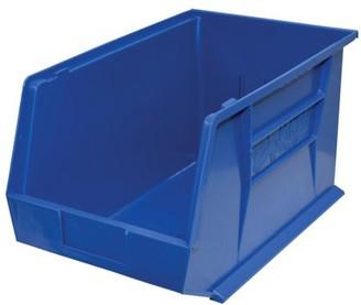 """StorageMax Storage Max Case of Stackable Blue Bins, 18"""" x 11"""" x 10"""" (4 bins)"""