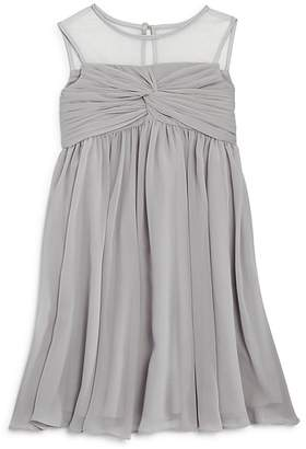 Us Angels Girls' Illusion Knot Front Dress - Little Kid