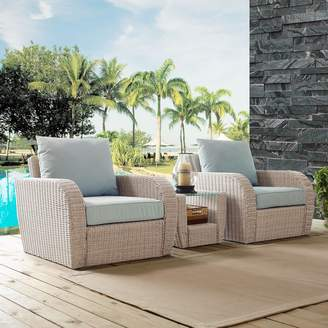 Augustine Crosley Furniture St. Patio Wicker Chair & End Table 3-piece Set