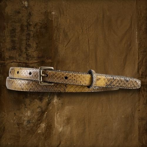Denim & Supply Ralph Lauren Python-Print Leather Belt