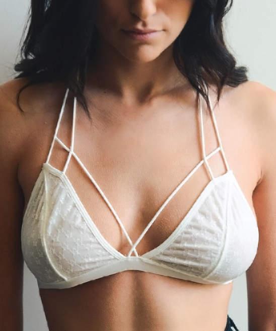Ivory Lace Wireless T-Strap Bralette