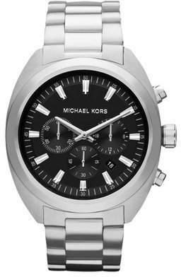 Michael Kors Men's MK8270 Dean Silver Tone Chronograph Watch