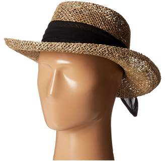 San Diego Hat Company SGM504 Seagrass Gambler w/ Poly Chiffon Band Caps