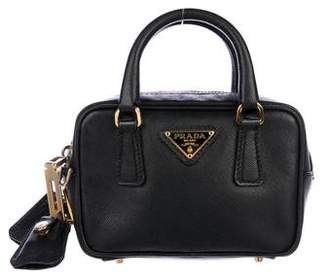 Prada Saffiano Lux Mini Bauletto Bag